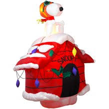 peanuts airblown inflatables 7ft airblown christmas snoopy on doghouse
