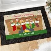 personalized christmas stocking family character christmas cards