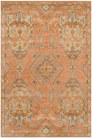 Orange And Blue Area Rug Rugs Curtains Traditional Orange Blue And Gold Area Rug For