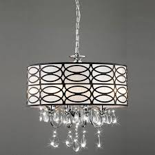 brushed nickel chandelier with crystals shop drum pendants at lowes com