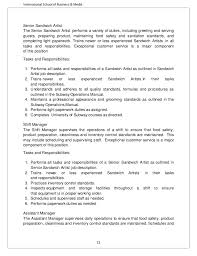 Shift Manager Job Description Resume by Fast Food Industry Analysis 2013