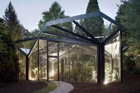 modern green house elegant tree framed conservatories gruningen botanical garden