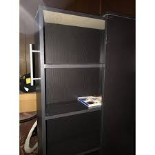 baxton studio lindo bookcase single pull out shelving cabinet baxton studio lindo dark brown wood bookcase with two pulled out