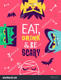 eat drink be scary funny concept stock vector 496397260 shutterstock