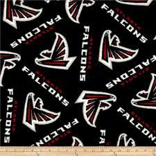 nfl fleece atlanta falcons black red discount designer fabric