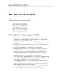 Resume Job Description For Sales Associate by Customer Service Job Description Resume