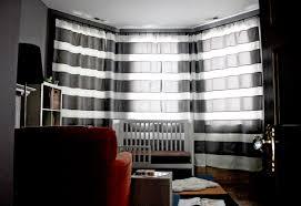 Horizontal Stripe Curtains Diy Extra Long Horizontal Stripe Curtains Ikea Hackers Ikea
