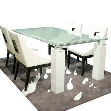 40 glass dining room tables crackle glass dining table remarkable crackle glass dining table
