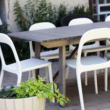 white outdoor table and chairs new outdoor dining table making it lovely