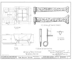 file drawing of window and shutter details in the bolduc house in