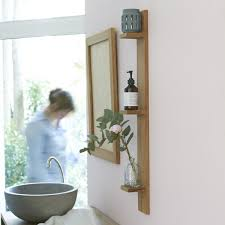 wandregal badezimmer wandregal bahya badregal aus teak tikamoon