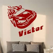 stickers pour chambre ado sticker prénom personnalisable voiture de course u2013 chambre ado
