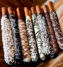 where to buy chocolate covered pretzel rods these would be to dye colors for football