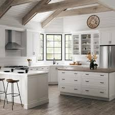 white kitchen cabinet with glass doors hton bay designer series melvern assembled 36x42x12 in