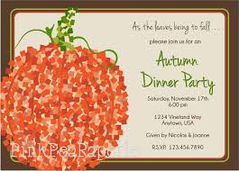 brown and green thanksgiving potluck dinner invitation wording