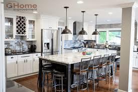 kitchen remodeling island white shaker grey island cabinets kitchen remodel g home improvement