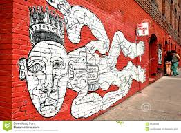 painted mural on brick wall in an urban city editorial stock image mural wall paint in san francisco california royalty free stock images