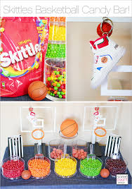 basketball party ideas basketball party ideas featuring a skittles candy bar soiree