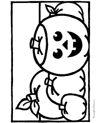 child halloween coloring pages