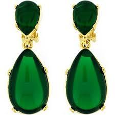 clip on earrings uk kenneth gold and emerald green opal teardrop clip