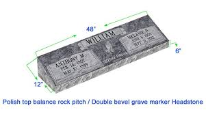 headstone markers mb20 flat bevel grave marker headstone 48 x12 x6 p1swn