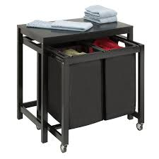 Folding Table With Wheels Amazon Com Honey Can Do Srt 03571 Double Sorter Folding Table