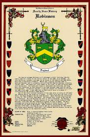 amazon com robinson coat of arms crest and family name history