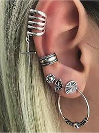 cuff earring sparkles cuff earrings set ear crawler earring climber stud ear w