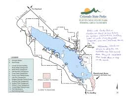 Colorado State Parks Map by Eleven 11 Mile Reservoir Permitted Areas Day Picnic Area