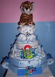 baby shower 3 tier safari diaper cake elephant monkey lion