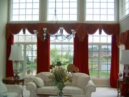 living room brilliant living room idea which has red crimson special valances for living room windows with adorable draping styles brilliant living room idea which
