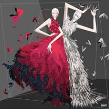 karin fashion illustrations flowy and beautiful fashion