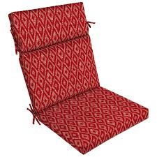 Garden Treasures Patio Chairs Shop Garden Treasures Geometric High Back Patio Chair Cushion For
