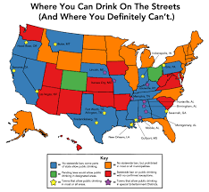 New Orleans Usa Map by Here U0027s Where You Can Drink In Public In America Infographic