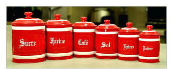 sre red kitchen canisters ebay red kitchen canisters