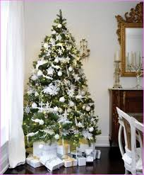 White Decorations On Christmas Tree by Christmas Tree Decorations U2013 Silver U2013 Happy Holidays
