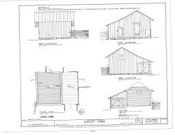 file corn crib elevations floor plan and section dudley farm