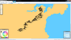 holy crap i figured out how to freehand mountains in paint net