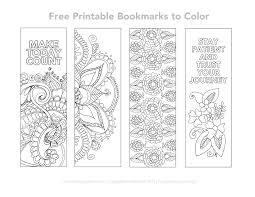 free printable bookmarks to color coloring pinterest free