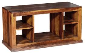 dallas contemporary solid hardwood open back tv stand media