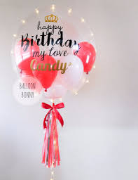 balloon gift led personalised happy birthday balloon giftr