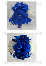 royal blue corsage the floral touch uk wrist corsages prom corsage wrist