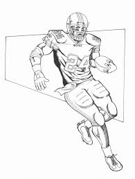 nfl football player coloring pages funycoloring