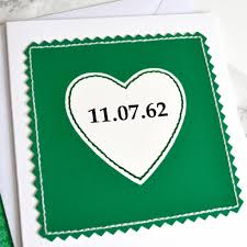 55th wedding anniversary personalised emerald wedding anniversary card by arnott