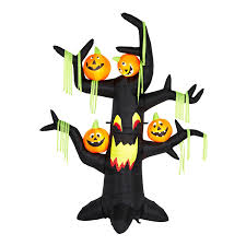 amazon com gemmy 7 ft airblown inflatable halloween tree with