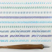 shades of blue calligraphy drill practice paper bouquet studio