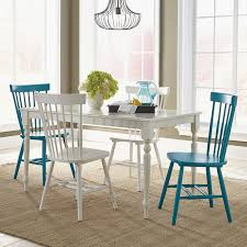 aqua dining room sauder cottage road rectangular dining table dining tables at