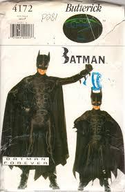 Butterick Halloween Costume Patterns Butterick 4172 Mens Batman Costume Pattern Teen Super