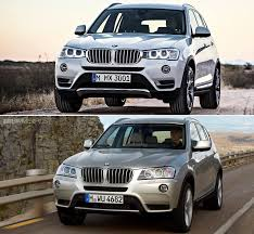 bmw x3 2012 vs 2013 visual comparison between x3 lci facelift and pre facelift x3
