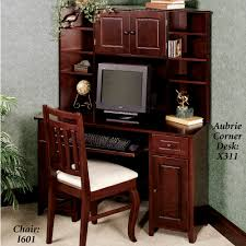 Computer Hutch Desk With Doors Aubrie Cherry Computer Hutch